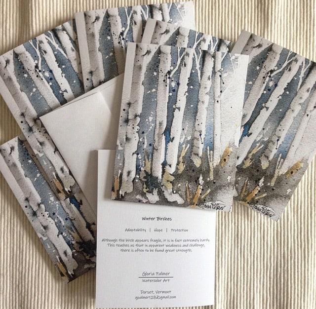 Winter Birches Notecards