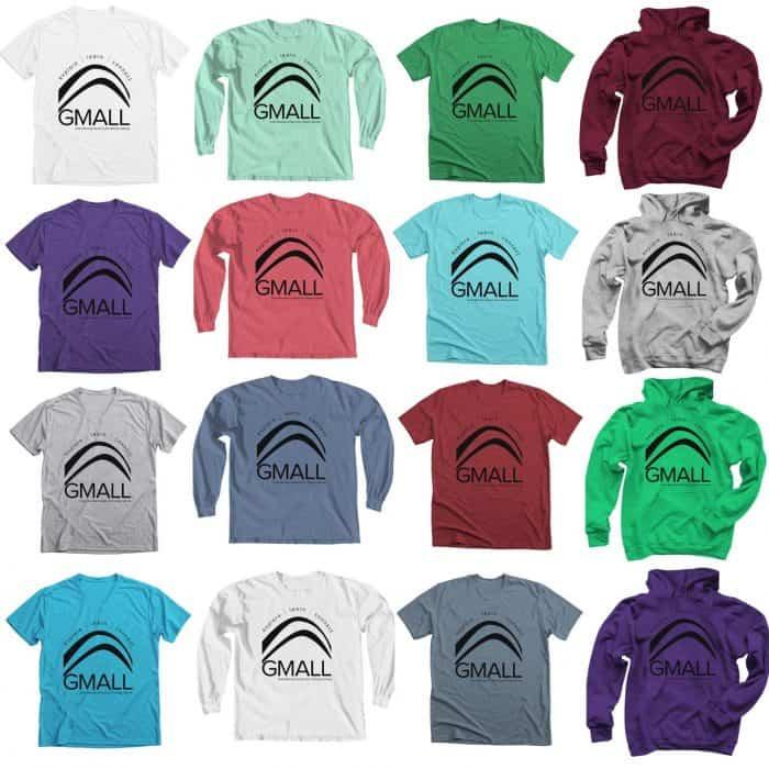 GMALL logo t-shirt sample