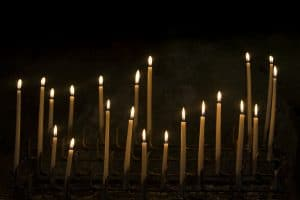 Candles Symbolizing Cults and Fringe Groups