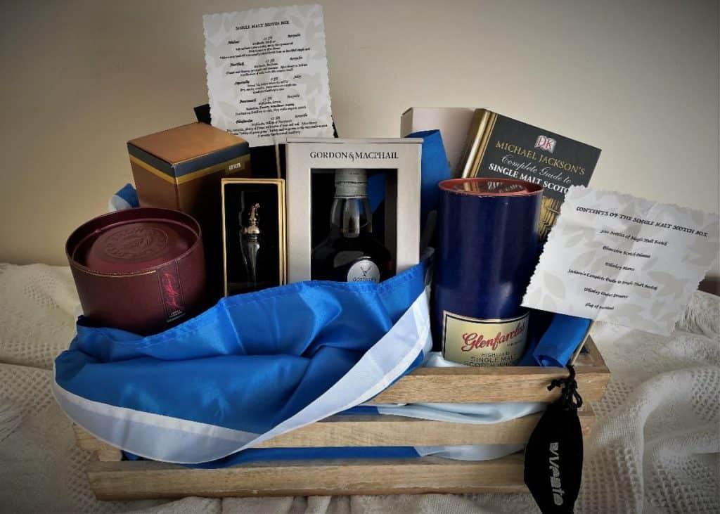 Scotch basket raffle prize